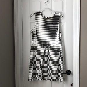 J. crew factory XL black & white striped dress